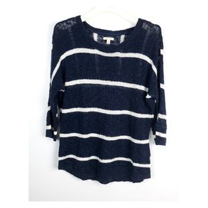 Sonoma Life + Style Open Knit Striped Sweater